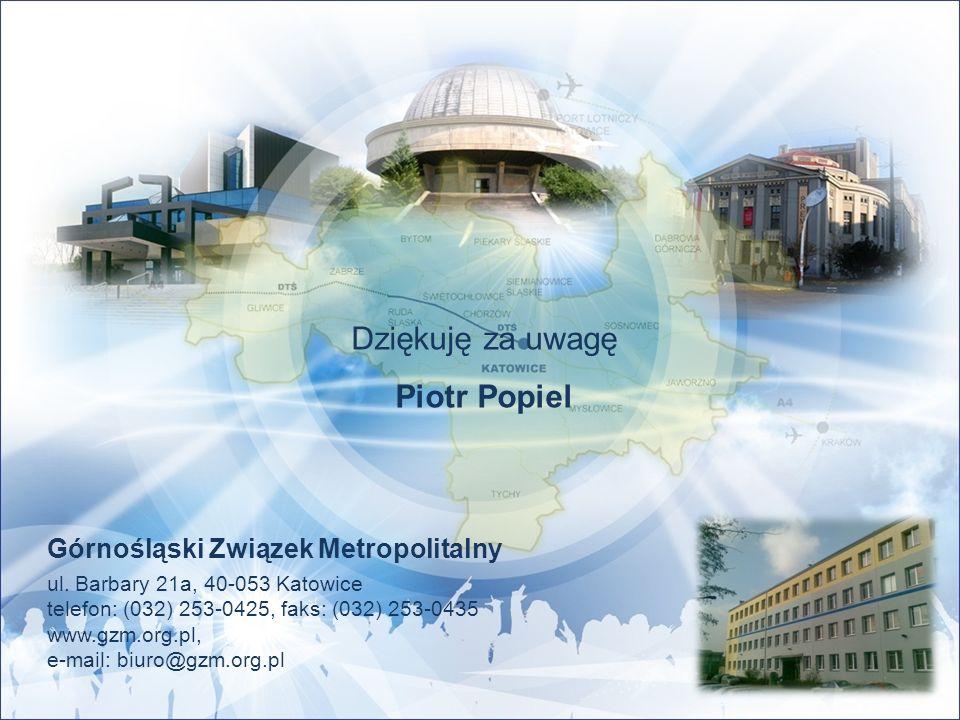 Górnośląski Związek Metropolitalny ul. Barbary 21a, 40-053 Katowice telefon: (032) 253-0425, faks: (032) 253-0435 www.gzm.org.pl, e-mail: biuro@gzm.or
