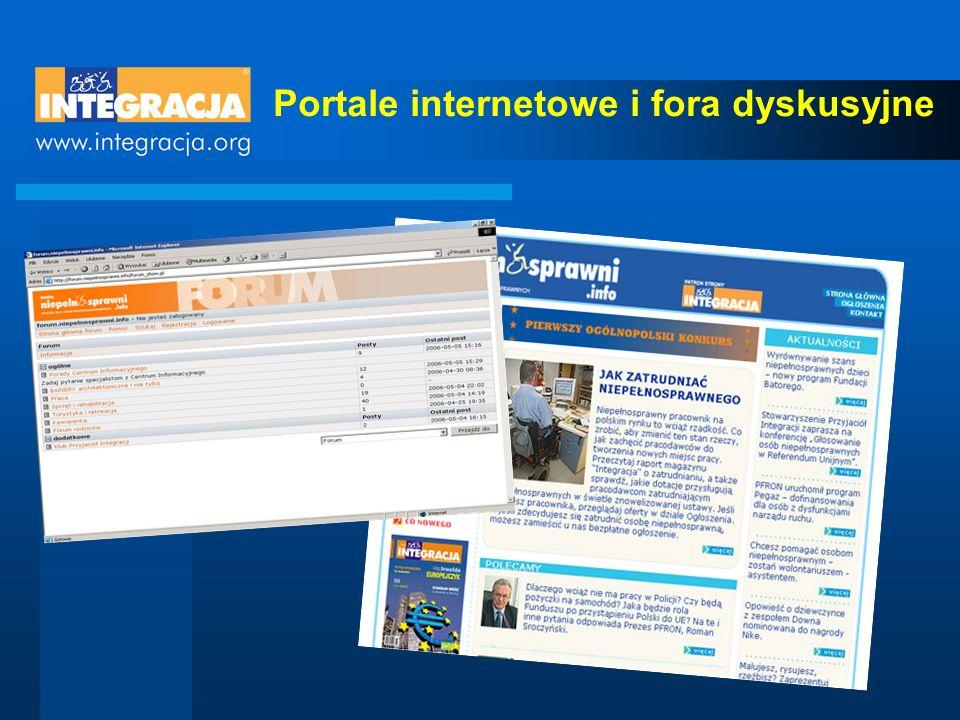 Portale internetowe i fora dyskusyjne