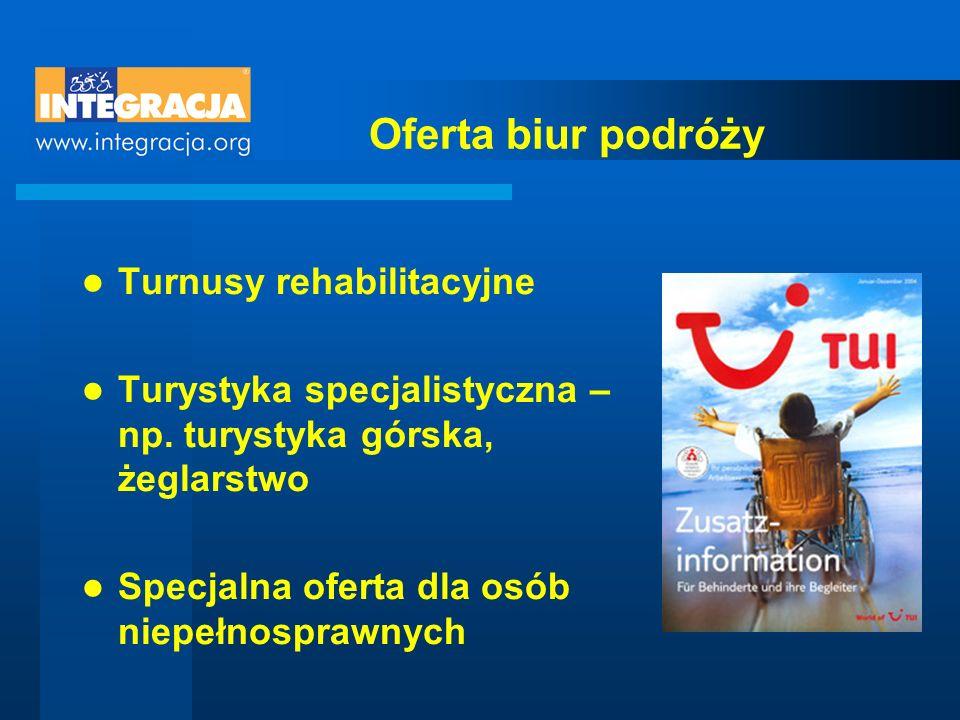 Oferta biur podróży Turnusy rehabilitacyjne Turystyka specjalistyczna – np.
