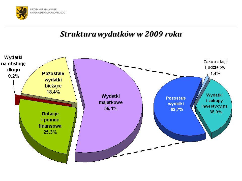 Struktura wydatków w 2009 roku