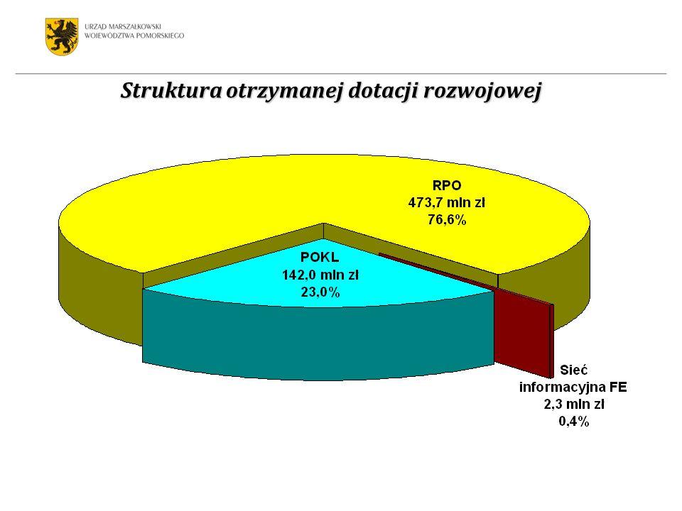 Struktura finansowania wydatków majątkowych w 2009 roku