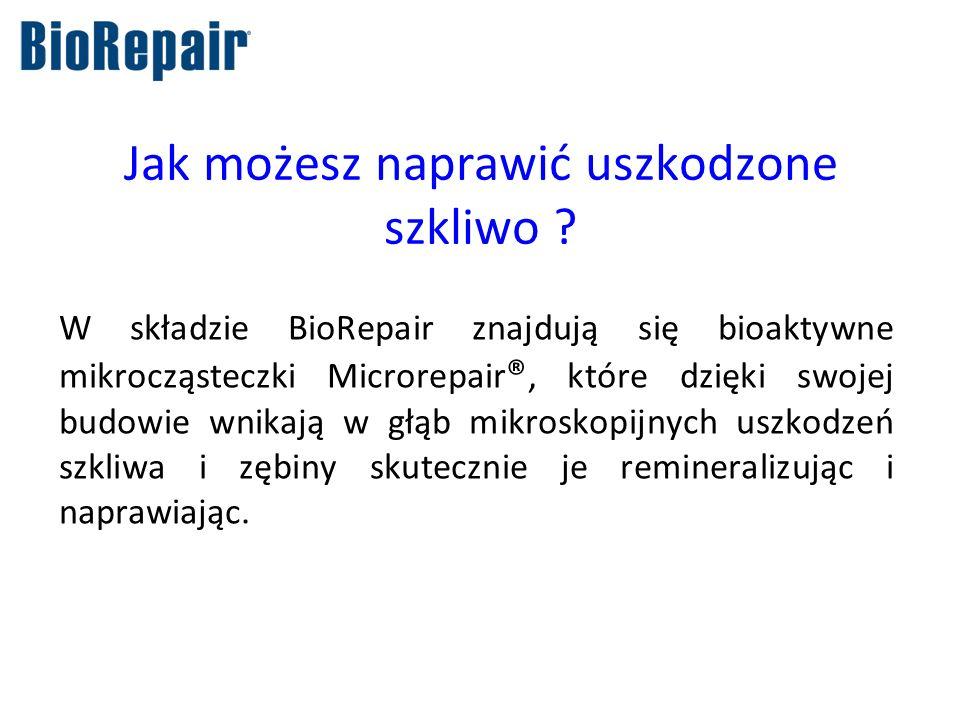Jak możesz naprawić uszkodzone szkliwo ? W składzie BioRepair znajdują się bioaktywne mikrocząsteczki Microrepair ®, które dzięki swojej budowie wnika