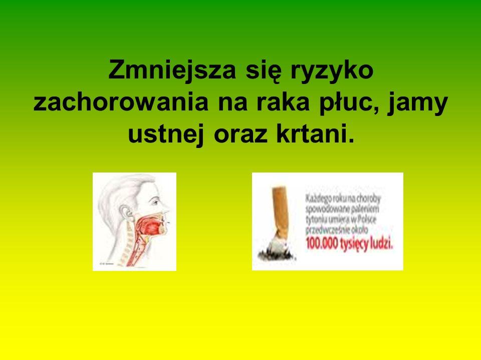 Gdy palisz możesz zachorować na: Chorobę oczu (katarakta), Raka płuc, Reumatyzm, Choroby jamy ustnej, Choroby serca.