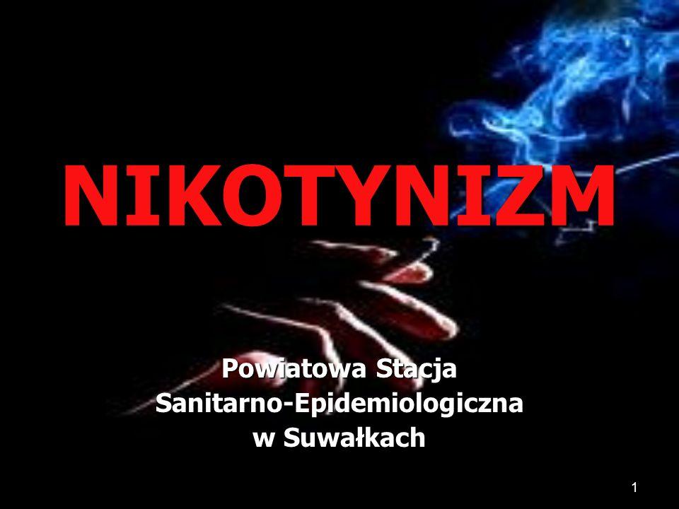 1 NIKOTYNIZM Powiatowa Stacja Sanitarno-Epidemiologiczna w Suwałkach