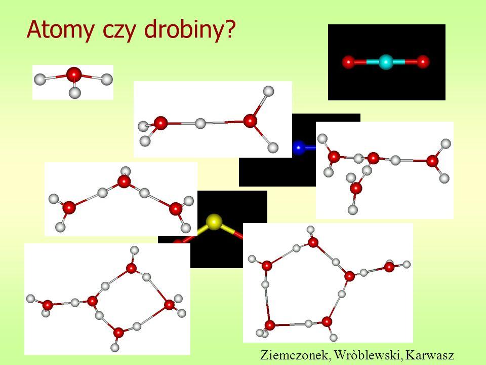 Atomy czy drobiny? Ziemczonek, Wròblewski, Karwasz