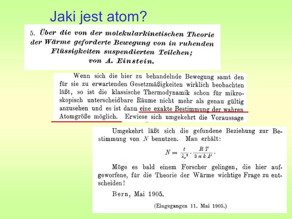 Jak zmierzyć atomy.kropla oleju na wodzie (Perrin, nagroda Nobla 1926) S=πR 2 R D.