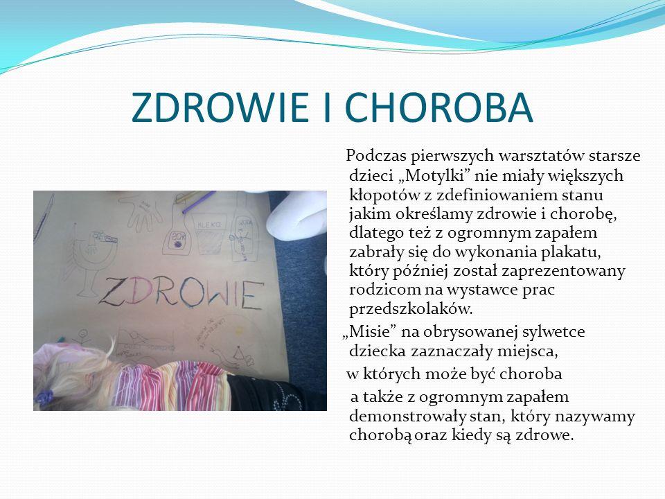 ZDROWIE I CHOROBA - 2 Wszystkie dzieci wiedzą, że chory musi poddać się leczeniu, pani doktor pomaga chorym dzieciom przepisując odpowiednie lekarstwa.