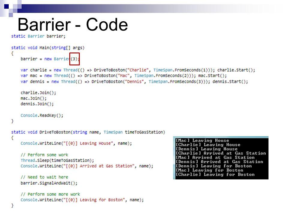 Barrier - Code