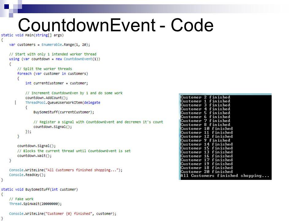 CountdownEvent - Code