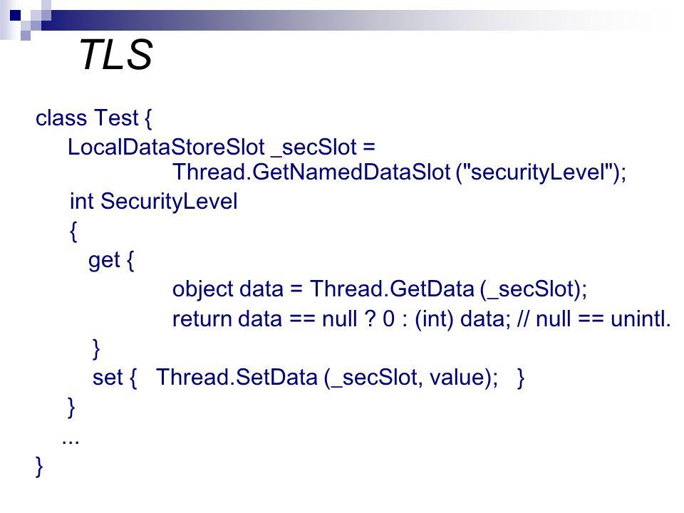 TLS class Test { LocalDataStoreSlot _secSlot = Thread.GetNamedDataSlot (