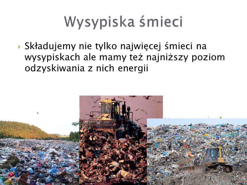 Składujemy nie tylko najwięcej śmieci na wysypiskach ale mamy też najniższy poziom odzyskiwania z nich energii