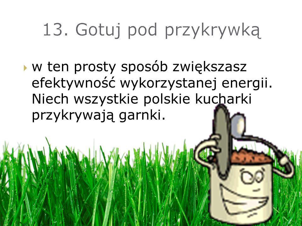 w ten prosty sposób zwiększasz efektywność wykorzystanej energii. Niech wszystkie polskie kucharki przykrywają garnki.