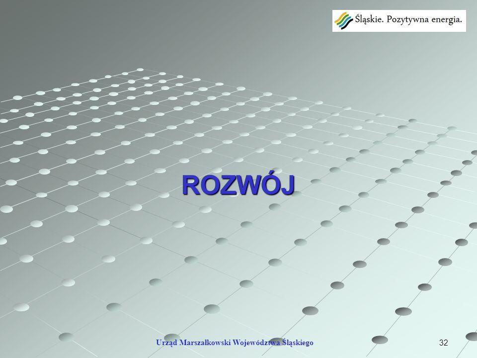 32 ROZWÓJ Urząd Marszałkowski Województwa Śląskiego