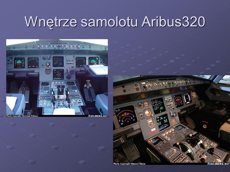 Wnętrze samolotu Aribus320