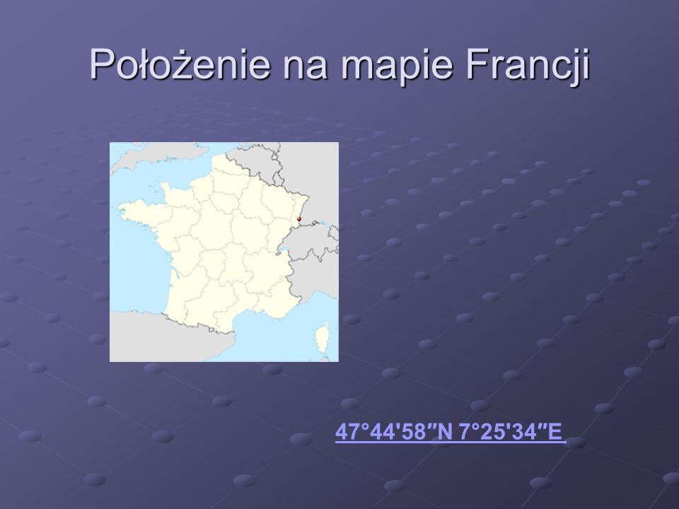 Położenie na mapie Francji 47°44'58N 7°25'34E