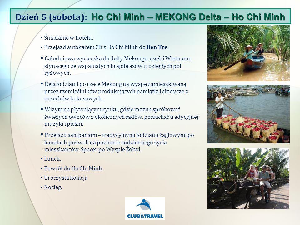 Śniadanie w hotelu. Przejazd autokarem 2h z Ho Chi Minh do Ben Tre.