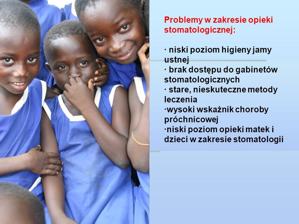 Informacje ogólne: New Voluntary Work Project for young dentists and dental students; projekt jest realizowany na mocy memorandum o współpracy pomiędzy IADS i YPWC MIEJSCE: regiony Ghany (Ashanti, Brong Ahafo,Północne i Wschodnie części kraju), pozbawione dostępu do opieki stomatologicznej DATY: Czerwiec - Wrzesień 2010 lub 2011 (możliwe przesunięcie terminu w zależności od liczby wolontariuszy) GŁÓWNE ZAŁOŻENIA: projekt skupia się na leczeniu dzieci oraz na edukacji jak również na zapewnieniu pomocy każdemu potrzebującemu mieszkańcowi