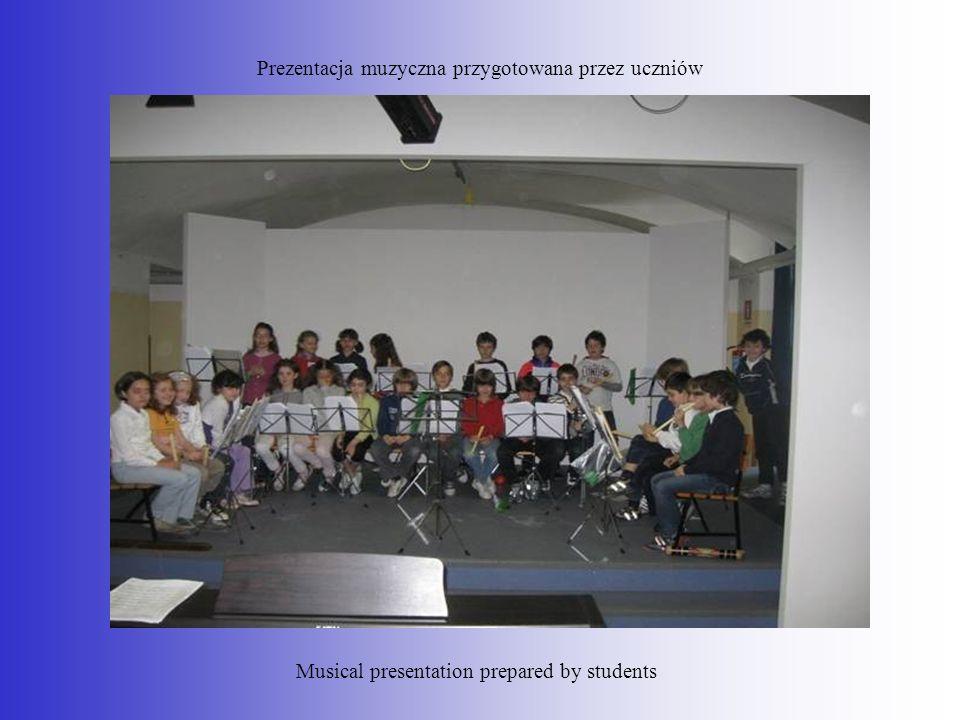 Prezentacja muzyczna przygotowana przez uczniów Musical presentation prepared by students