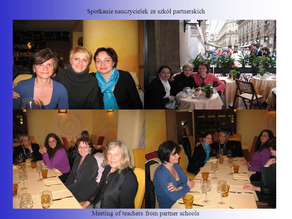 Spotkanie nauczycielek ze szkół partnerskich Meeting of teachers from partner schools