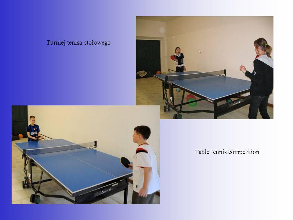 Turniej tenisa stołowego Table tennis competition