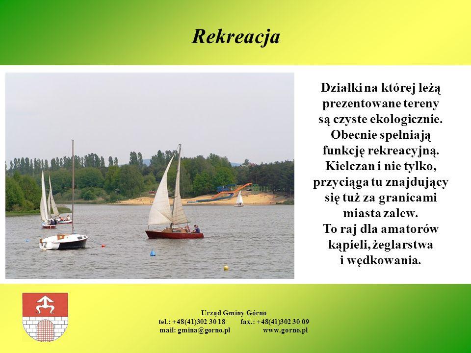 Urząd Gminy Górno tel.: +48(41)302 30 18 fax.: +48(41)302 30 09 mail: gmina@gorno.pl www.gorno.pl Rekreacja Działki na której leżą prezentowane tereny