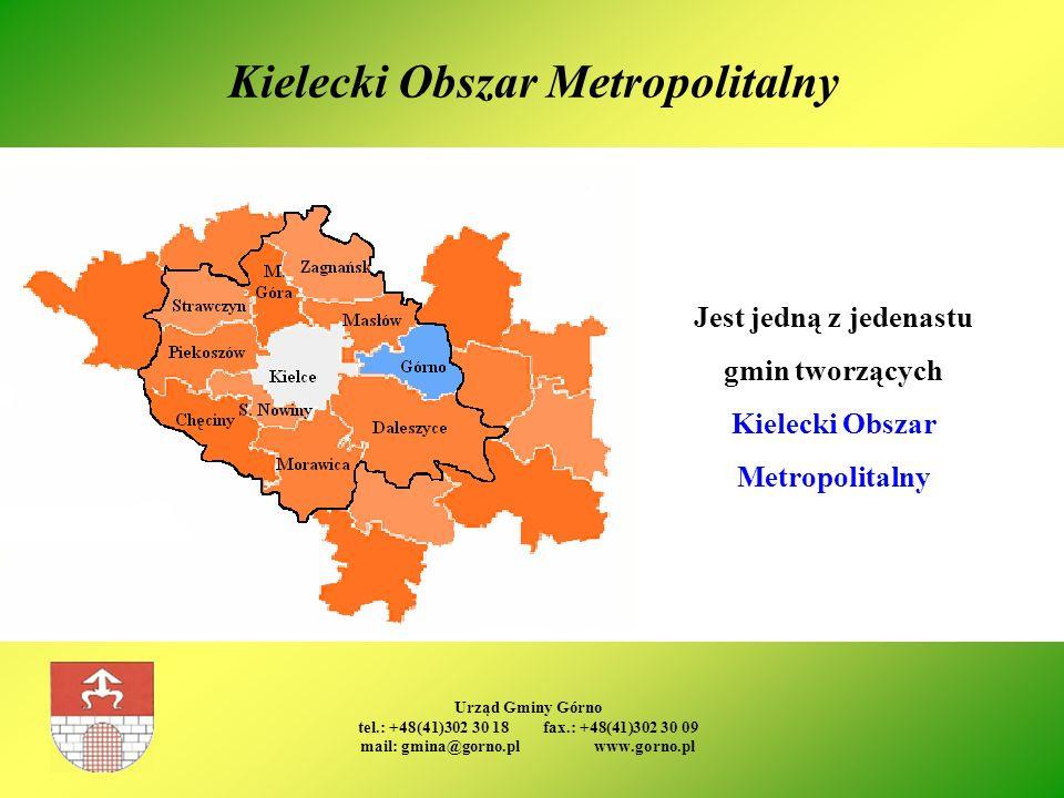 Urząd Gminy Górno tel.: +48(41)302 30 18 fax.: +48(41)302 30 09 mail: gmina@gorno.pl www.gorno.pl Kielecki Obszar Metropolitalny Jest jedną z jedenast