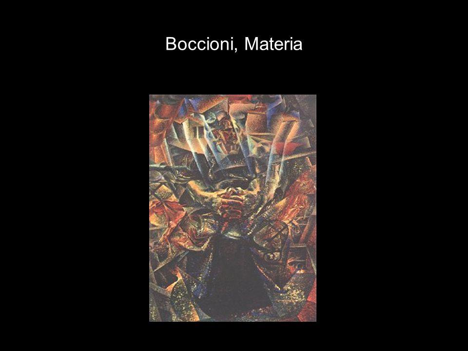 Boccioni, Materia