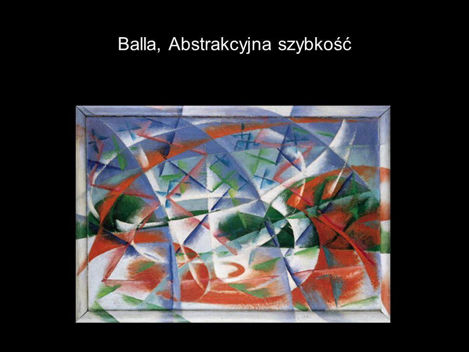 Balla, Abstrakcyjna szybkość