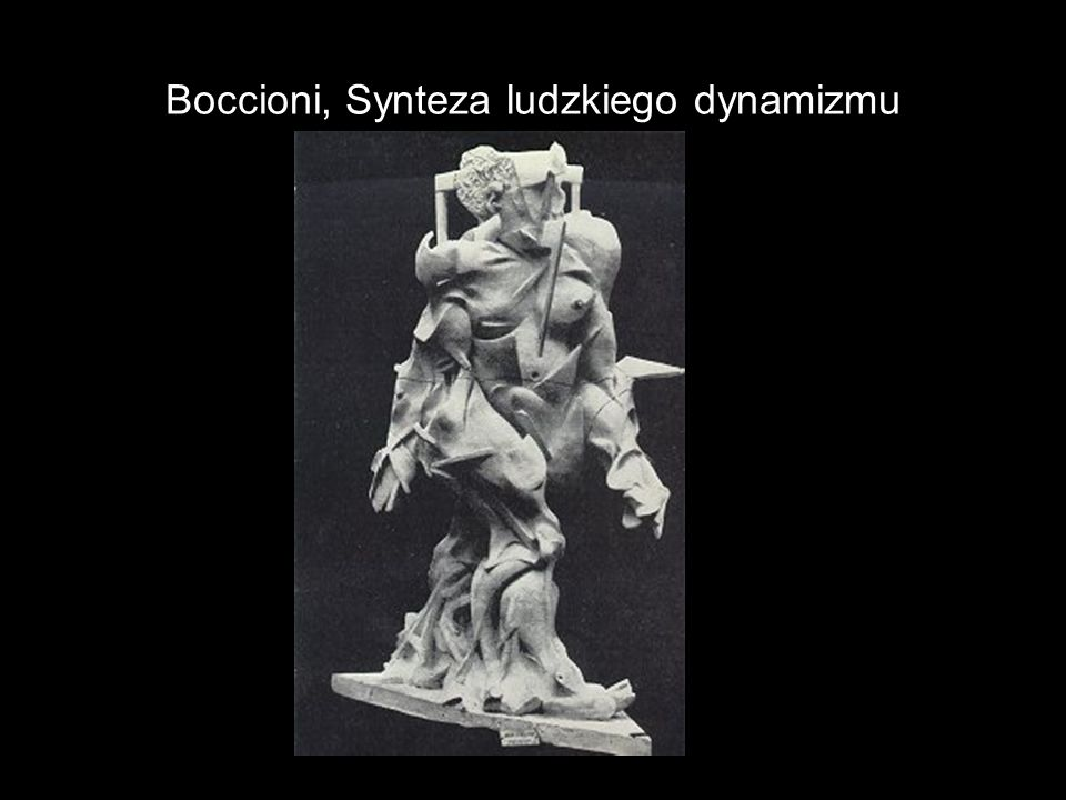 Boccioni, Synteza ludzkiego dynamizmu