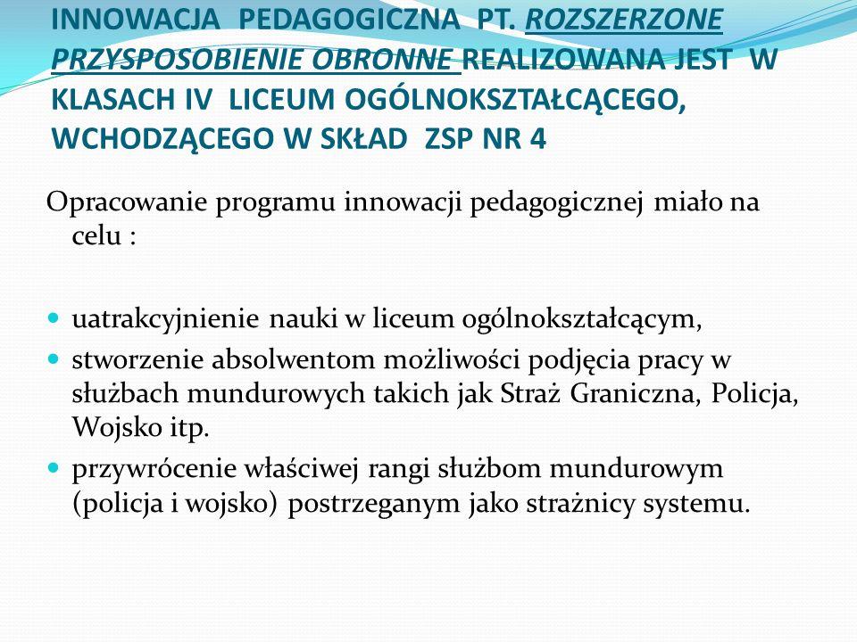 INNOWACJA PEDAGOGICZNA PT.
