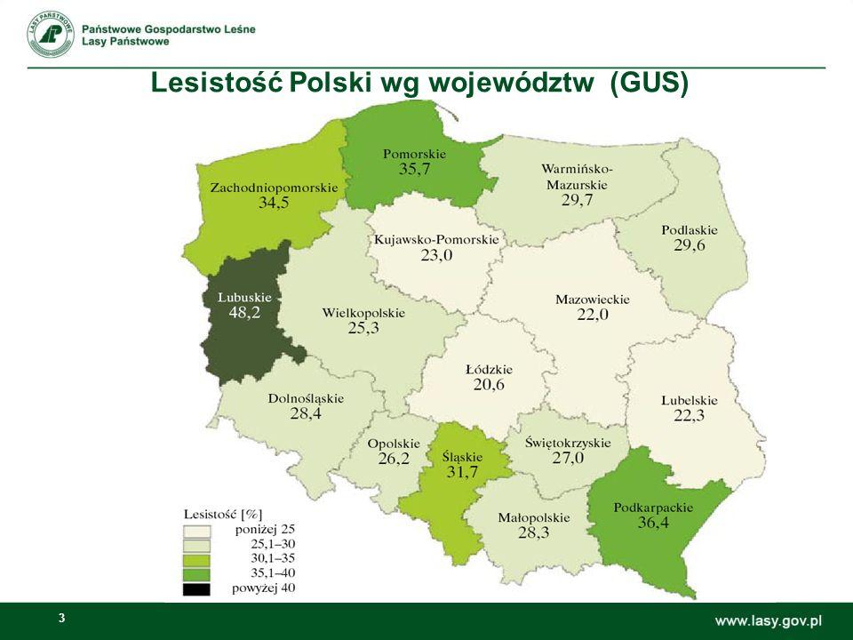 4 Udzia ł lasów prywatnych w ogólnej powierzchni leśnej województw (GUS )