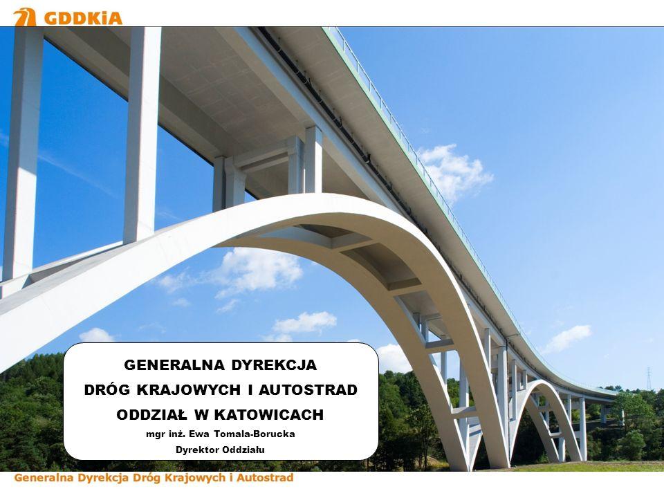 Przebudowa węzła – stan projektowany Oddział Generalnej Dyrekcji Dróg Krajowych i Autostrad w Katowicach administruje na terenie woj.
