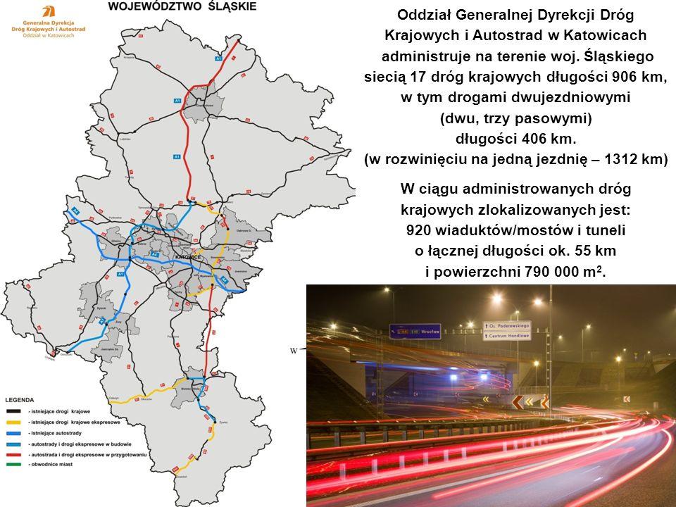 Przebudowa węzła – stan projektowany Oddział Generalnej Dyrekcji Dróg Krajowych i Autostrad w Katowicach administruje na terenie woj. Śląskiego siecią
