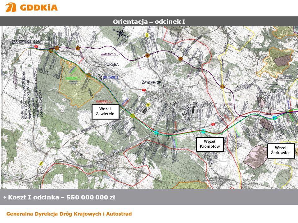 Orientacja – odcinek II Koszt II odcinka – 730 000 000 zł.