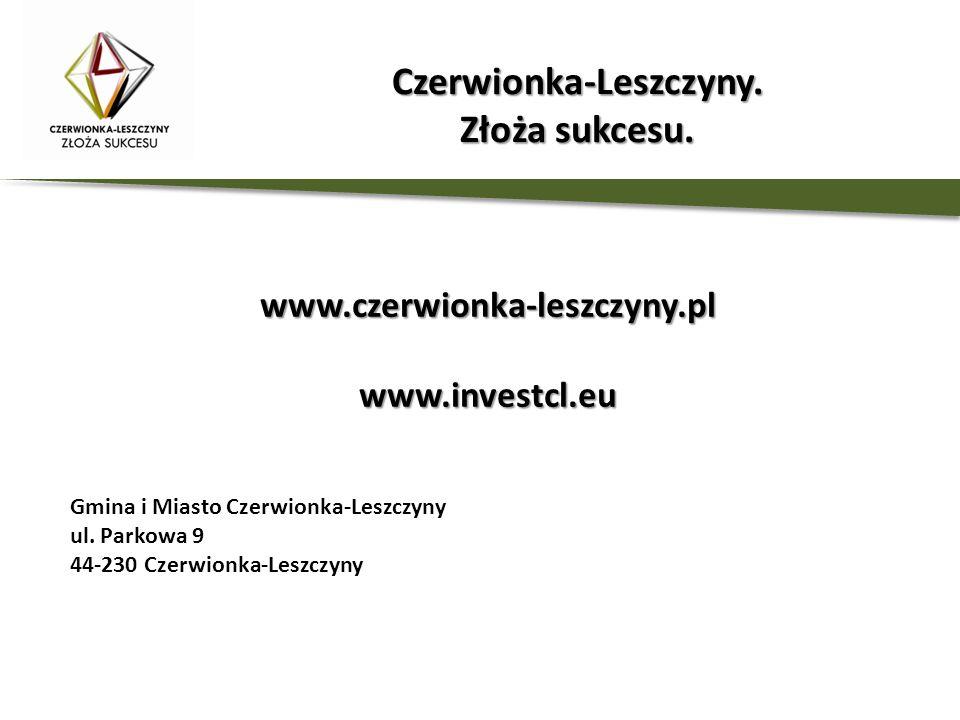 www.czerwionka-leszczyny.plwww.investcl.eu Gmina i Miasto Czerwionka-Leszczyny ul. Parkowa 9 44-230 Czerwionka-Leszczyny Czerwionka-Leszczyny. Złoża s
