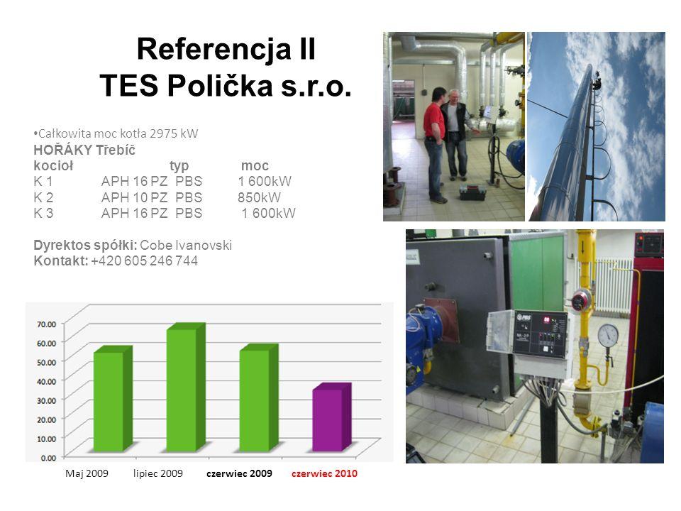 Referencja II TES Polička s.r.o.