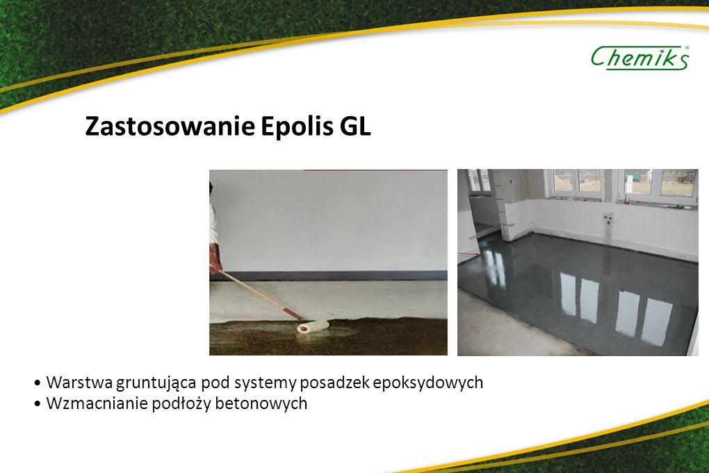 Zastosowanie Epolis GL Warstwa gruntująca pod systemy posadzek epoksydowych Wzmacnianie podłoży betonowych