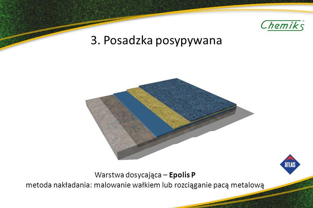 Warstwa dosycająca – Epolis P metoda nakładania: malowanie wałkiem lub rozciąganie pacą metalową 3.