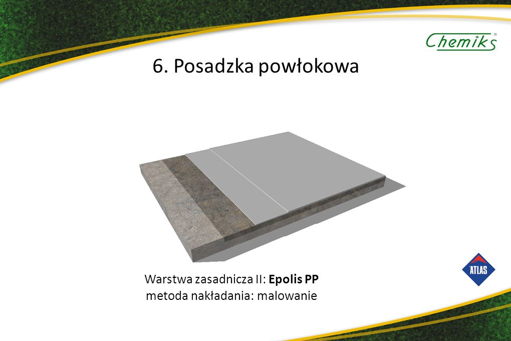 Warstwa zasadnicza II: Epolis PP metoda nakładania: malowanie 6. Posadzka powłokowa