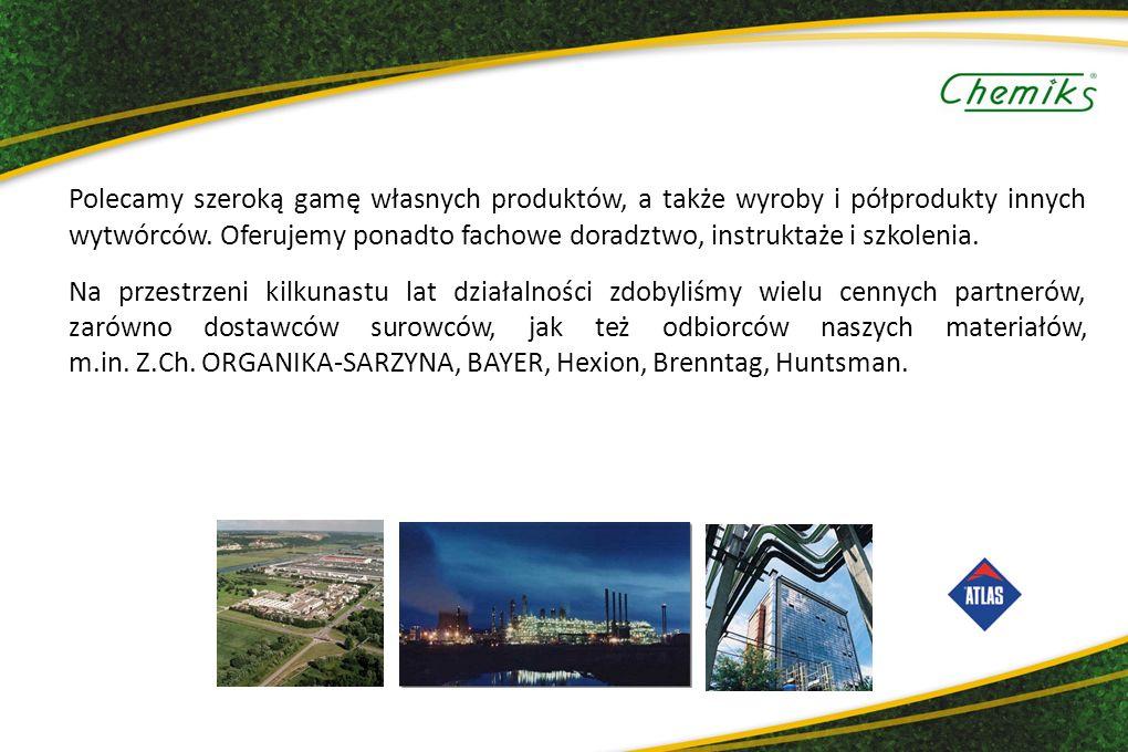 Polecamy szeroką gamę własnych produktów, a także wyroby i półprodukty innych wytwórców.