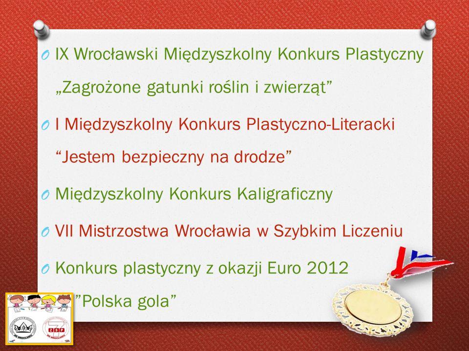 O IX Wrocławski Międzyszkolny Konkurs Plastyczny Zagrożone gatunki roślin i zwierząt O I Międzyszkolny Konkurs Plastyczno-Literacki Jestem bezpieczny