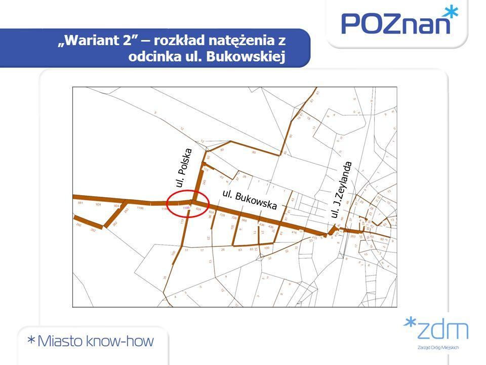 Wariant 2 – rozkład natężenia z odcinka ul. Bukowskiej ul. Bukowska ul. Polska ul. J.Zeylanda