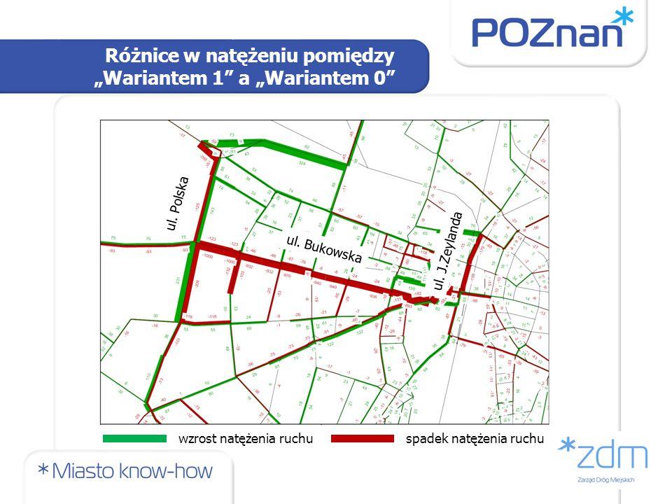Wariant 2a – Natężenie ruchu ul. Bukowska ul. Polska ul. J.Zeylanda