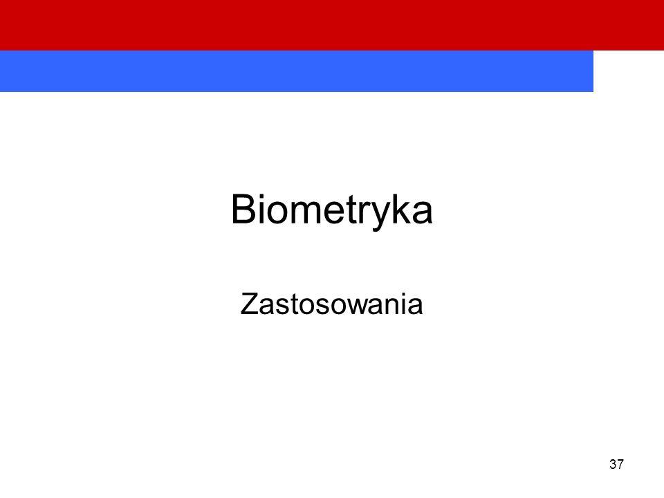 37 Biometryka Zastosowania
