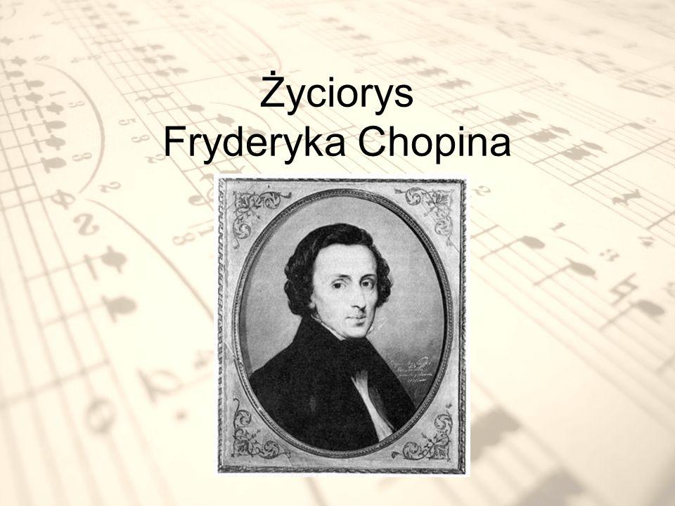 Fryderyk Chopin to wielki polski kompozytor i pianista