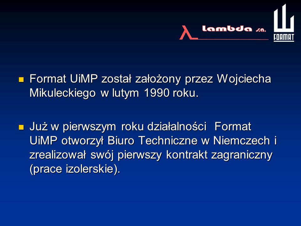 Format UiMP został założony przez Wojciecha Mikuleckiego w lutym 1990 roku. Format UiMP został założony przez Wojciecha Mikuleckiego w lutym 1990 roku