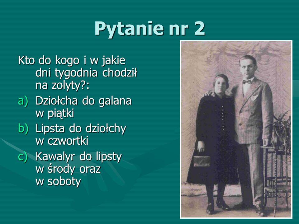 Pytanie nr 73 Zanim zakorzenił się zwyczaj noszenia ślubnych obrączek, czym na Śląsku wymieniali się państwo młodzi?