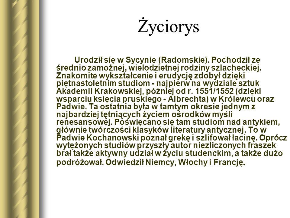 Życiorys Urodził się w Sycynie (Radomskie).
