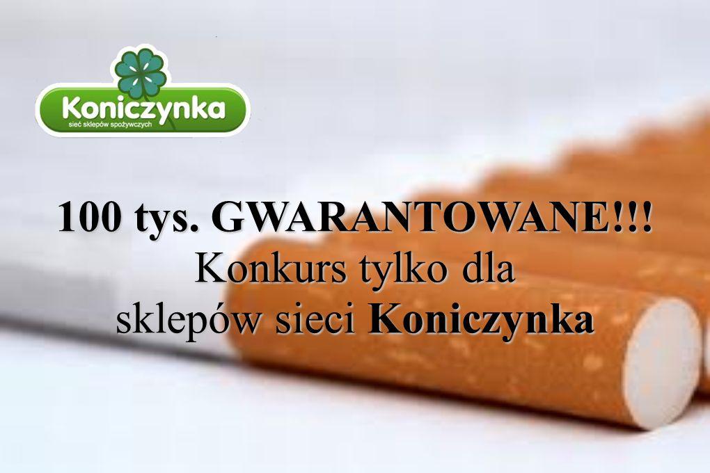 100 tys. GWARANTOWANE!!! Konkurs tylko dla sklepów sieci Koniczynka