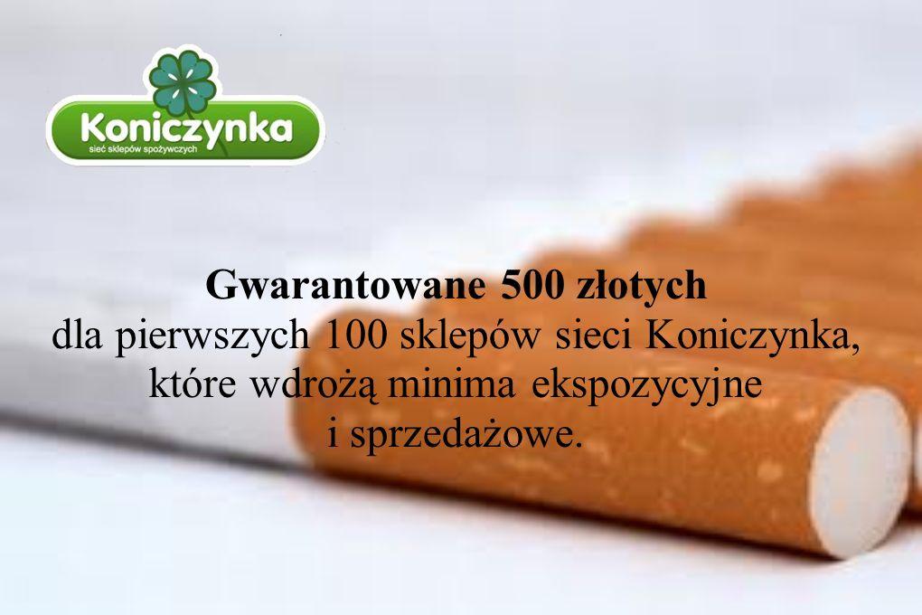 Gwarantowane 500 złotych dla pierwszych 100 sklepów sieci Koniczynka, które wdrożą minima ekspozycyjne i sprzedażowe.